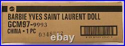 YVES SAINT LAURENT BARBIE PLATINUM GCM97 NRFB LE 1,000 WithSHIPPER