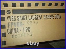 Yves Saint Laurent Barbie Evening Gown NRFB withSHIPPER -Platinum Label FPV66