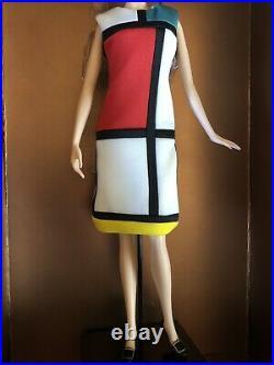 Yves Saint Laurent Mondrian 2018 Model Muse Platinum Label Mattel Barbie Doll